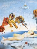 Droom veroorzaakt door de vlucht van een bij rond een granaatappel, ca. 1944 Kunst van Salvador Dalí