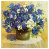 Blaue Blumen Serie Posters by R. Bertram