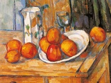 Kettle Glass and Plate with Fruit Prints by Paul Cézanne