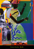 African American Artists - Jacob Lawrence - The Library Wall Poster