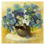 Blaue Blumen  Serie Affiche par R. Bertram