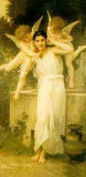 Young Lady with Two Angels Print by William Adolphe Bouguereau
