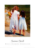Summer Stroll Poster by Nancy Seamons Crookston