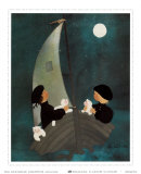Soir de Pleine Lune Poster by Diane Ethier