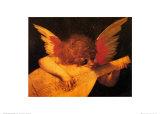 Musician Angel Schilderij van  Rosso Fiorentino (Battista di Jacopo)