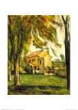 Chestnut Trees and Farm, Jas De Bouffan Posters by Paul Cézanne