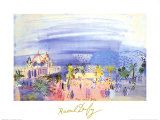 Casino in Nice Print by Raoul Dufy