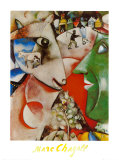 I and the Village, c.1911 Schilderij van Marc Chagall