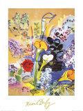 Bouquet d'Arums Kunstdruck von Raoul Dufy