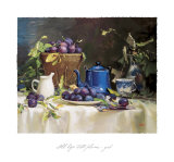 Still Life with Plums Posters by Del Gish