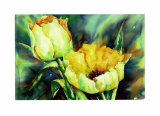 Yellow Tulips Print by Hanneke Floor