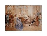 Recital a la Cour Poster by V. De Paredes