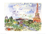 La Tour Eiffel, c.1935 Prints by Raoul Dufy