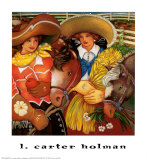 Two Friends Print by Linda Carter Holman
