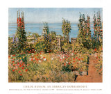 Hollyhocks, Isle of Shoals Posters by Childe Hassam