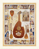 Lute Print by Richard Henson