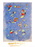 Sky Blue, c.1940 Schilderij van Wassily Kandinsky