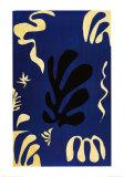 Composición en fondo azul Póster por Henri Matisse