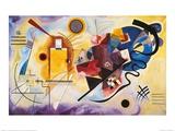 Gelb, rot und blau, ca. 1925 Kunstdruck von Wassily Kandinsky