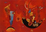 Mit und Gegen, 1929 circa Poster di Wassily Kandinsky