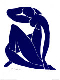 Nu bleu II Posters par Henri Matisse