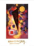 Multicolored Resonance (gold foil text) Obra de arte por Wassily Kandinsky