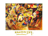 Studie Zu Komposition Poster von Wassily Kandinsky