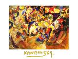 Studie Zu Komposition Póster por Wassily Kandinsky