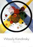 Círculos dentro de un círculo Póster por Wassily Kandinsky