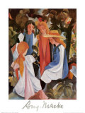 Four Girls Poster by Auguste Macke