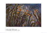 Irises (detail) Posters by Claude Monet
