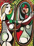 鏡の前の若い女1932 ポスター : パブロ・ピカソ