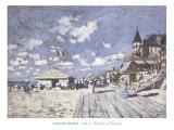 Sur les Planches de Trouville Posters by Claude Monet
