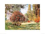 Claude Monet - Park v Monceau Plakát