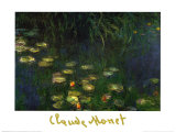 Nymph&#233;as de l&#39; orangerie &#224; Giverny Posters par Claude Monet