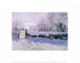 La urraca Lámina por Claude Monet