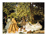 Dejeuner Sur l&#39;Herbe Posters by Claude Monet