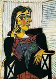 Pablo Picasso - Portrait of Dora Maar, c.1937 - Sanat