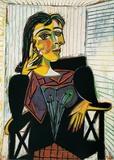 Portrait of Dora Maar (gold foil text) Imágenes por Pablo Picasso