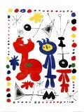 Joan Miró - Personnage et Oiseaux - Sanat