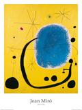 Gold und Blau|El oro del azur Kunstdruck von Joan Miró
