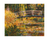 Water Lily Pond-Pink Harmony Print by Claude Monet
