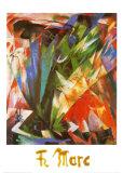Oiseau Poster par Franz Marc