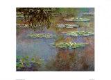 El estanque de las ninfeas Póster por Claude Monet