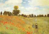 Field of Poppies, c.1886 Poster di Claude Monet