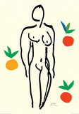 オレンジと裸婦 ポスター : アンリ・マティス