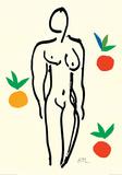 Desnudo con naranjas Póster por Henri Matisse