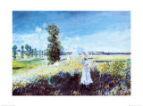 Passeggiata Prints by Claude Monet
