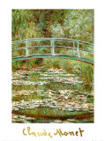 The Japanese Bridge Posters af Claude Monet