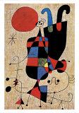 Upside-Down Figures Print by Joan Miró